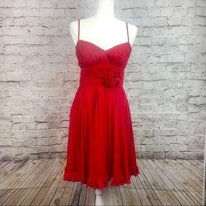 Oleg Cassini beautiful red mini cocktail dress